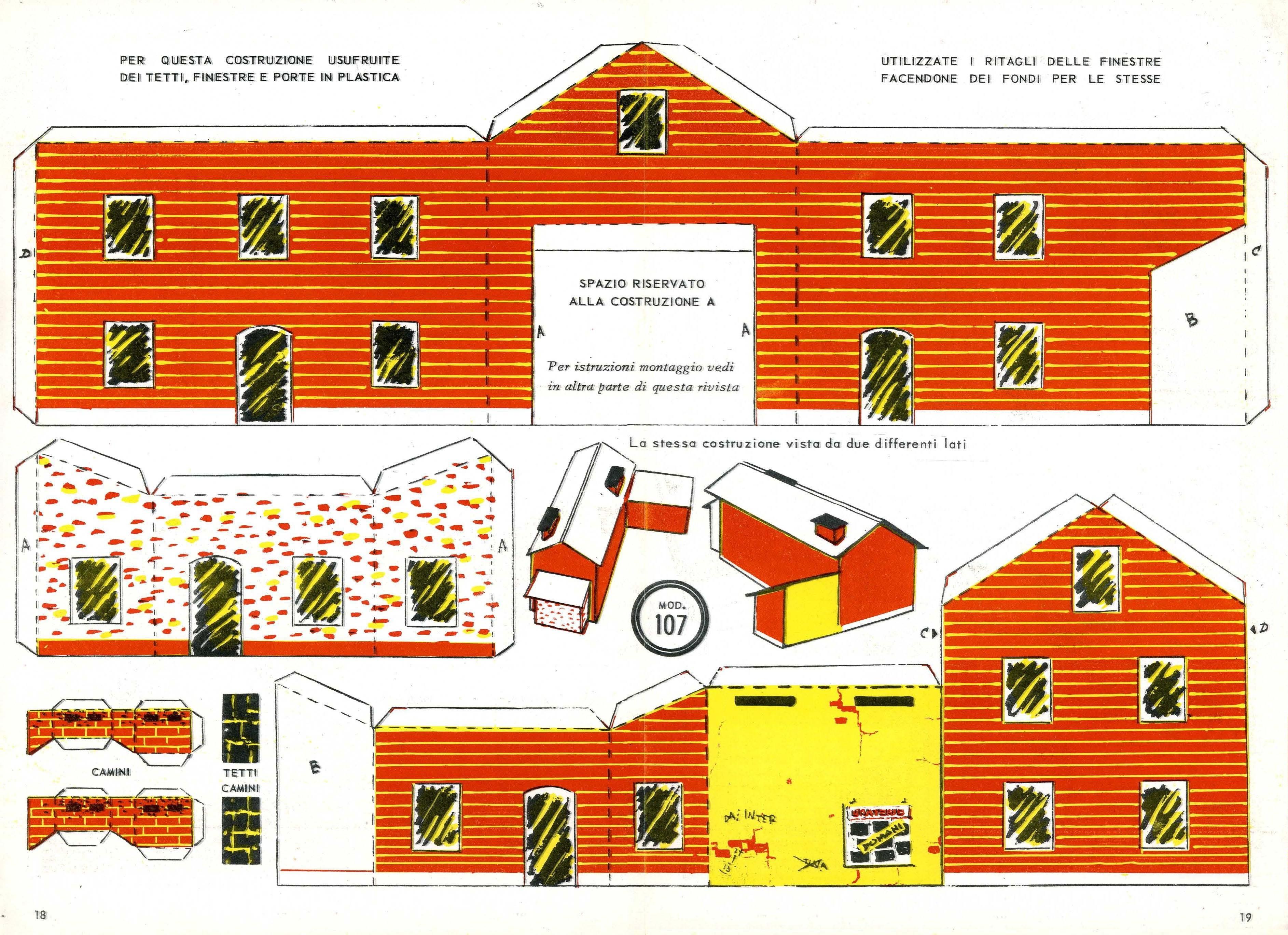 Rivarossi - Casette di cartone da costruire ...