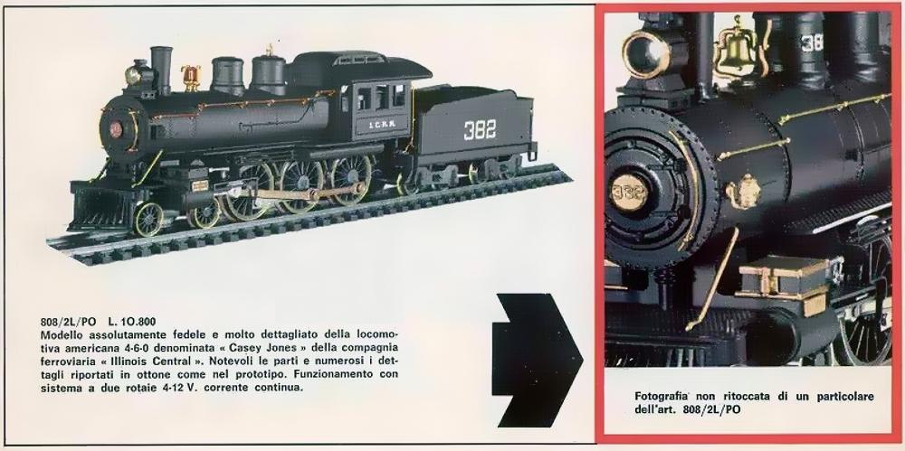 HO SCALE RIVAROSSI 4-6-0 Casey Jones 5151-B I.C. ICRR 382